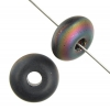 Donut 11mm Black Aurora Borealis Matte